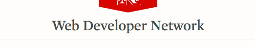 The UNL website site title, with example 'Web Developer Network' shown